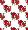 Seamless pattern with pomegranate vector