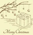 Gift box vintage vector