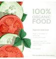 Banner with fresh vegetables tomatoes vector