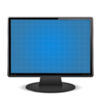 Graph paper on the screen of computer monitor vector