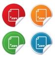 File document icon download csv button vector