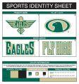Sports identity vector