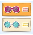 Retro glasses background concept vector