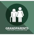 Grandparents silhouettes vector