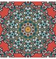 Seamless mandala on red background vintage tribal vector