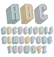 3d font with lines textures simple shaped vector