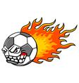 Flaming ball vector