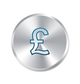 Pound silver sign isolated currency icon vector