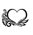 Symbol of a heart with floral design vector