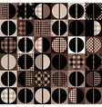 Coffee pattern in geometric style vector