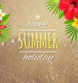 Happy holiday card vector