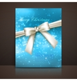 Merry christmas shiny blue holiday background with vector