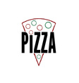Slice of pizza design template vector