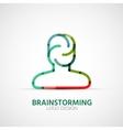 Brainstorming company logo businessconcept vector
