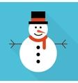 Snowman greeting vector
