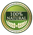 Hundred percent natural vector