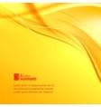Orange smoke on yellow background vector