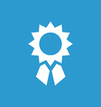 Achievement icon white on the blue background vector