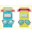 Retro glasses background concept vector