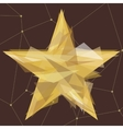 Gold star made of triangles vector