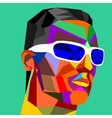 Abstraction of face of a man vector