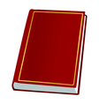 Book on white vector