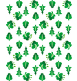 Green tree seamless background vector