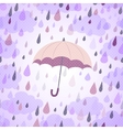 Background with an umbrella and rain vector