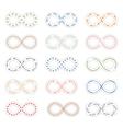 Infinity symbols vector