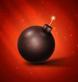 Black bomb vector