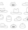 Linear variety cartoon hats vector