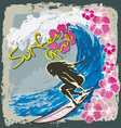 Surfer girl spirit vector
