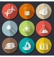 Science symbols flat vector