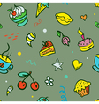 Seamless background with sweets vector