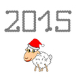 A funny christmas cartoon sheep vector
