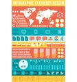 Big business flat infographic elements set for vector