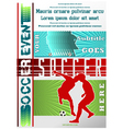 Sport event poster soccer vector