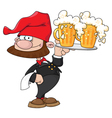 Waiter gnome with beer vector