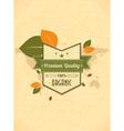 Eco friendly label vector