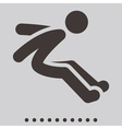 Long jump icon vector