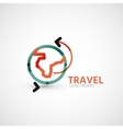Travel company logo business concept vector
