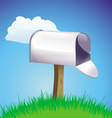 Mailbox open background vector