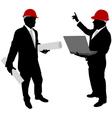 Businessmen with hard hat vector