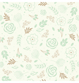 Seamless floral green vector