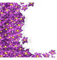 Lilac flowers background vector