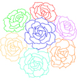 Large bouquet of roses vector