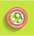 Soccer ball icon flat modern icon vector