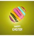 Easter background with 3d abstract egg vector