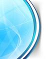 Modern blue wave swoosh line border background vector