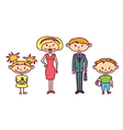 Cute doodle family set vector